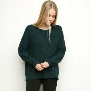 Brandy Melville knit sweater emerald green